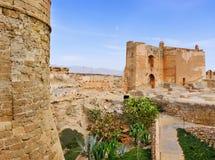 Alcazaba di Almeria, a Almeria, la Spagna Fotografia Stock Libera da Diritti