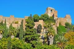 Alcazaba di Malaga, a Malaga, la Spagna immagine stock libera da diritti