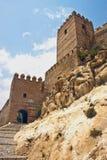 Alcazaba en Almería Imagen de archivo libre de regalías