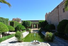 Alcazaba (Festung) in Almeria, Andalusien Stockfotos