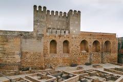Alcazaba-Festung, Granada, Spanien stockbild