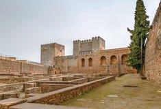 Alcazaba-Festung, Granada, Spanien lizenzfreie stockfotos