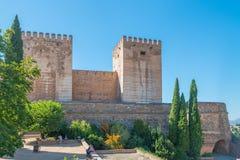 Alcazaba, Festung von Alhambra, Granada lizenzfreies stockfoto