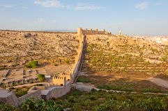 Alcazaba, fortaleza muçulmana antiga em Almeria imagem de stock