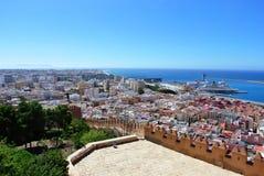 Alcazaba (fortezza) a Almeria, Andalusia Fotografie Stock Libere da Diritti