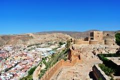 Alcazaba (fortezza) a Almeria, Andalusia Fotografia Stock