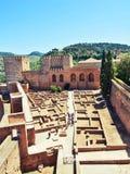 The Alcazaba fortress, Alhambra Stock Image