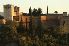 Alcazaba fortress in Alhambra Royalty Free Stock Photography