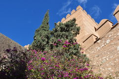 Alcazaba fortress in Almeria,Spain Royalty Free Stock Images