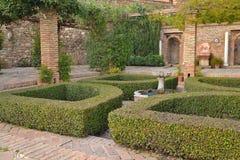 Alcazaba gardens Royalty Free Stock Photography