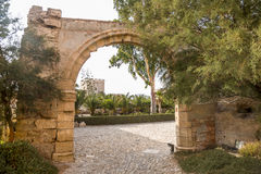 The Alcazaba Gardens. Is a source of La Alcazaba of Almeria stock photos