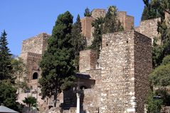 Alcazaba and Gibralfaro Castle of Malaga, Andalusia, Spain, Europe Royalty Free Stock Photography