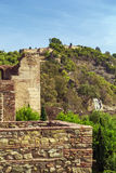 Alcazaba and Gibralfaro fortress in Malaga Stock Image