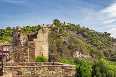 Alcazaba and Gibralfaro fortress in Malaga Stock Images