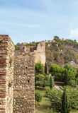 Alcazaba and Gibralfaro fortress in Malaga Stock Photos