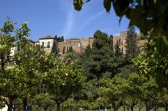 Alcazaba a Malaga Fotografia Stock Libera da Diritti