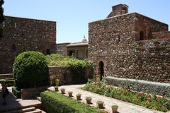 The Alcazaba of Malaga in Andalucia Spain. The Alcazaba of Malaga in Andalucia, south of Spain. It is located on the top of Mount Gibralfaro. It is one of the Stock Images