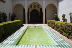 The Alcazaba of Malaga in Andalucia Spain. The Alcazaba of Malaga in Andalucia, south of Spain. It is located on the top of Mount Gibralfaro. It is one of the Royalty Free Stock Photos