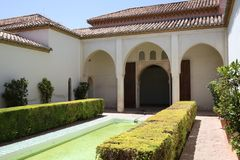 The Alcazaba of Malaga in Andalucia Spain. The Alcazaba of Malaga in Andalucia, south of Spain. It is located on the top of Mount Gibralfaro. It is one of the Stock Photography