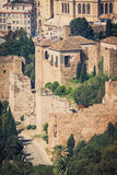 The Alcazaba of Malaga, Andalusia Spain Royalty Free Stock Photography