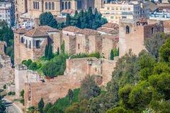 The Alcazaba of Malaga, Andalusia Spain Royalty Free Stock Photography
