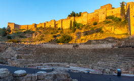 Alcazaba, Malaga. Alcazaba and Roman amphitheater, Malaga, Andalucia, Spain Royalty Free Stock Image