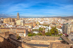 Alcazaba Malaga skyline Royalty Free Stock Photography