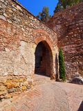 Alcazaba in Malaga, Spain Royalty Free Stock Image