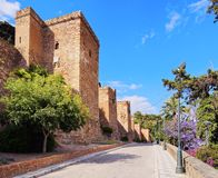 Alcazaba in Malaga, Spain. The Alcazaba - old fortification in Malaga, Andalusia, Spain Royalty Free Stock Images