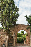 Alcazaba of Malaga, Spain. The Alcazaba is a palatial fortification in Malaga, Spain. Arch in the Garden Royalty Free Stock Images
