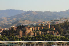 Alcazaba. Malaga, Spain Stock Photos
