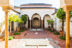 Alcazaba of Malaga, Spain. View of courtyard in the Alcazaba Stock Photo