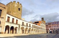 The Alcazaba and Plaza Alta in Badajoz, Extremadura, Spain Royalty Free Stock Photos