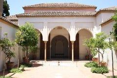 Alcazaba van Malaga in Andalucia Spanje royalty-vrije stock foto