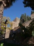 Alcazaba van Malaga in Andalucia Spanje Stock Afbeelding