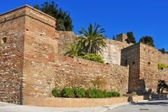 Alcazaba van Malaga, in Malaga, Spanje stock foto