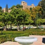 Alcazaba van Malaga, in Malaga, Spanje royalty-vrije stock afbeeldingen
