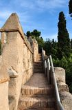 Alcazaba walls, Malaga, Spain Stock Photos