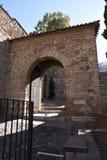 Alcazabaen av Malaga i Andalucia Spanien Royaltyfria Bilder