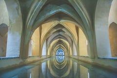AlcazarÂs pöl - Sevilla - Spanien Arkivfoto