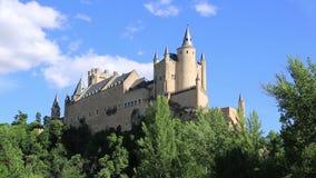 alcazar κάστρο segovia Ισπανία απόθεμα βίντεο