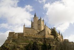 Alcazar. The Alcazar is a 8th century castle/palace located in Segovia, Spain.  Originally built by the moors. and later modified by the Spanish kings Stock Image