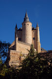 Alcazar 6. Sight of the fortress of Segovia from the river stock photo
