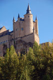 Alcazar 9. Sight of the fortress of Segovia from the river royalty free stock images