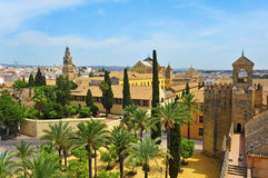 Alcazar And Cathedral Mosque Of Cordoba, Spain Stock Images