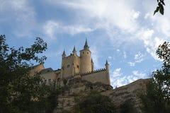 Alcazar av den Segovia slotten Royaltyfri Foto