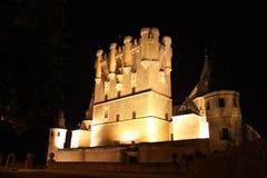 Alcazar av den Segovia slotten Fotografering för Bildbyråer