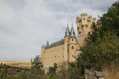 Alcazar av den Segovia slotten Royaltyfri Bild