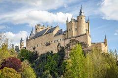 Alcazar av Segovia Arkivfoto