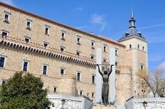 Alcazar av Toledo, Spanien Arkivbilder